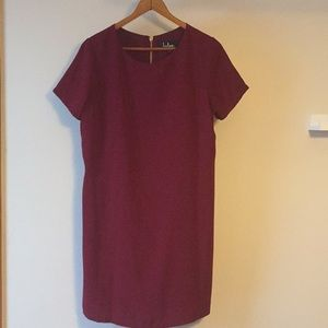 Lulu's Shift and Shout Dress - Wine Red